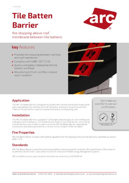 ARC Tile Batten Barrier
