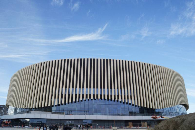 Accoya fins selected for the Royal Arena in Denmark