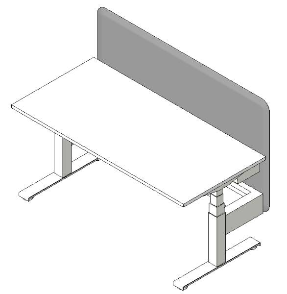 Work2.1 Sit-Stand Single Desk 1600mm