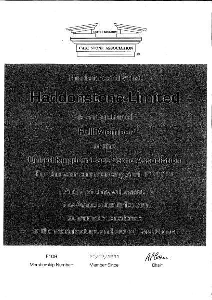UKCSA Full Member certificate