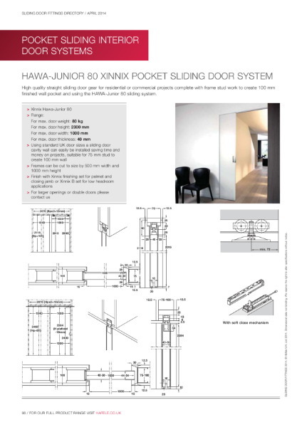 Pocket Sliding Door Gear