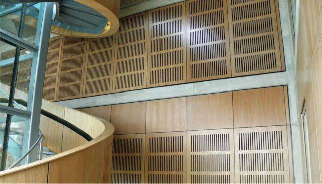 Slotted Acoustic Wall Lining
