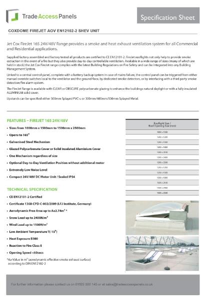 Coxdome AOV Spec Sheet