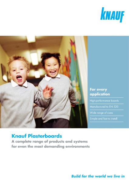 Knauf Plasterboard Range Brochure