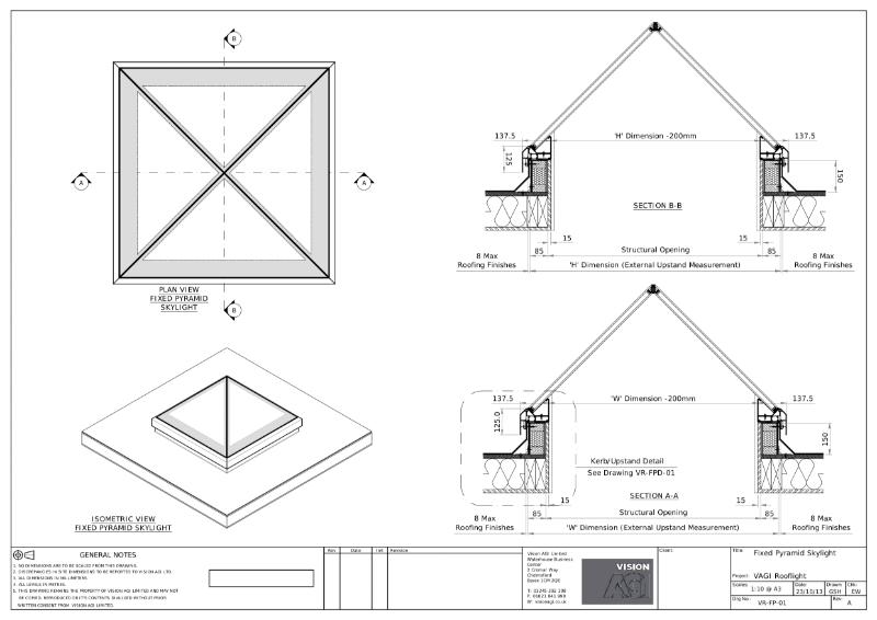 Fixed Pyramid Rooflight