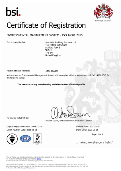 ISO 14001_2015 Environmental Management System Certificate
