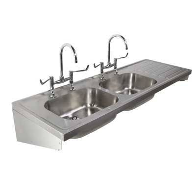 Stainless Steel Double Sink and Drainer
