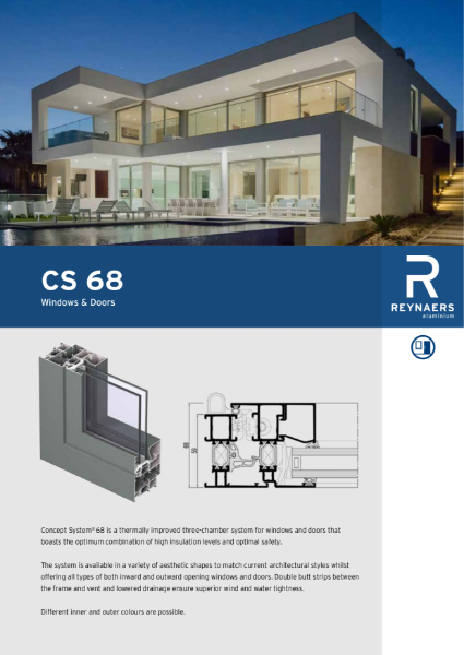 Aluminium Window & Door System - CS 68