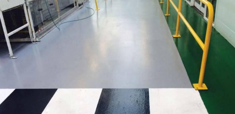 Resin flooring system Elladur Topcoat