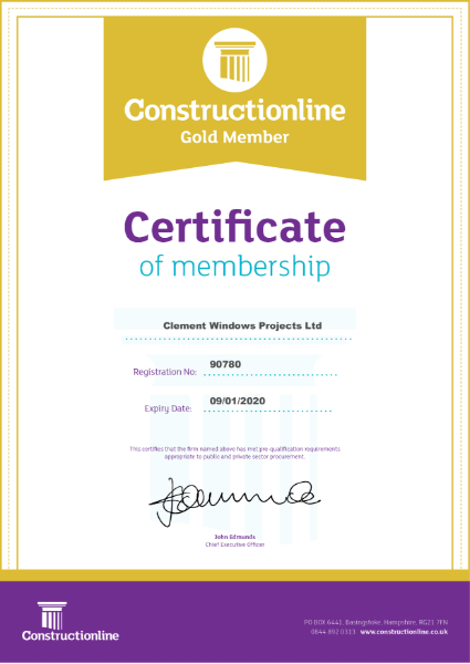 GOLD Constructionline Certificate