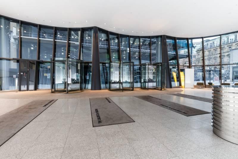 Bespoke All Glass Revolving Doors, The Wallbrook Offices, London