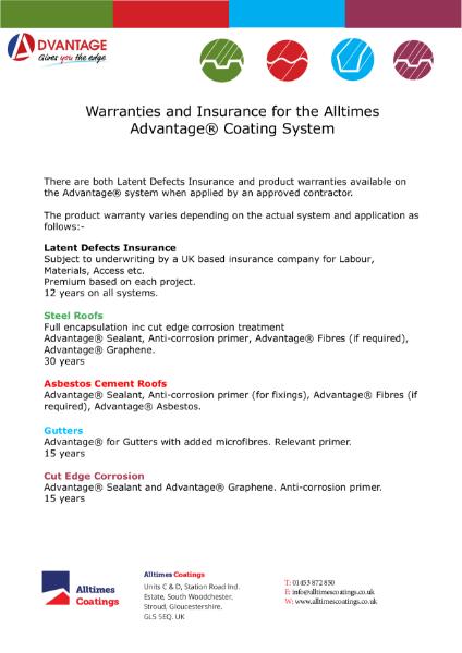 Advantage Warranty Summary