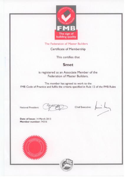 FMB certificate