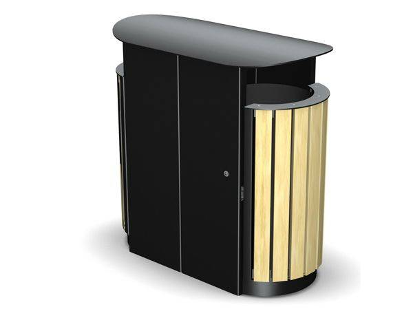 Arca Dual Compartment Round Litter Bin