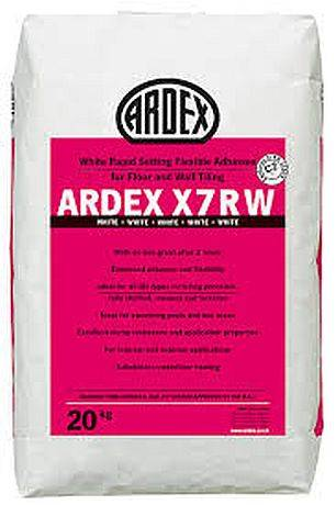 ARDEX X 7 R W Rapid Setting Flexible Tile Adhesive - White