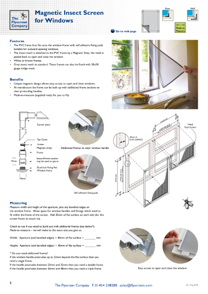 Magnetic Flyscreen Screen for Windows