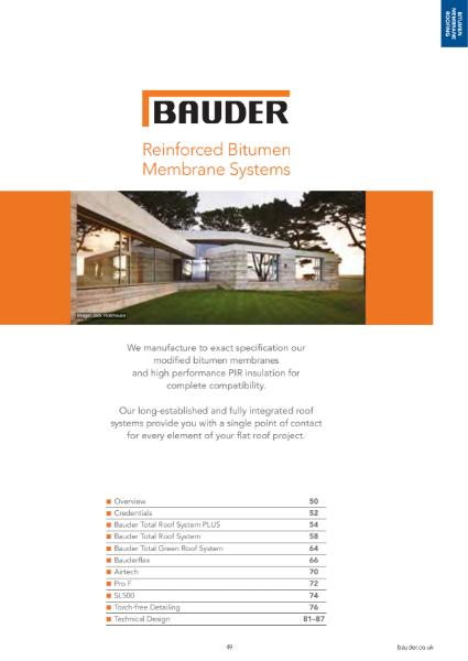 Bitumen Membrane Systems - Bauder