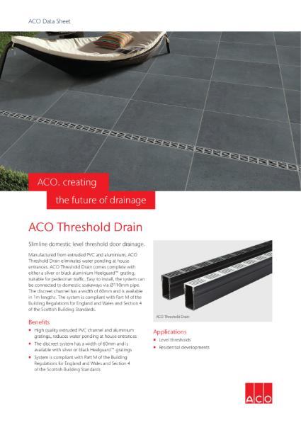 ACO Threshold Drain brochure