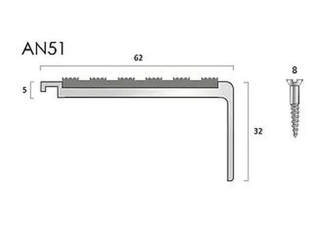 AN51 Aluminium Stair Nosings