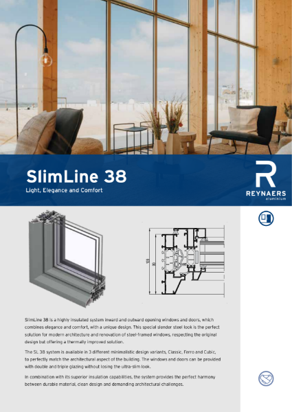Aluminium Window & Door System -  SL 38 Slim Line