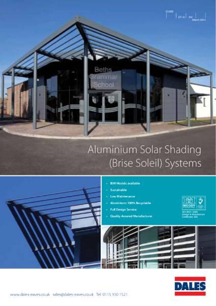 Solar Shading Brise Soleil in Aluminium