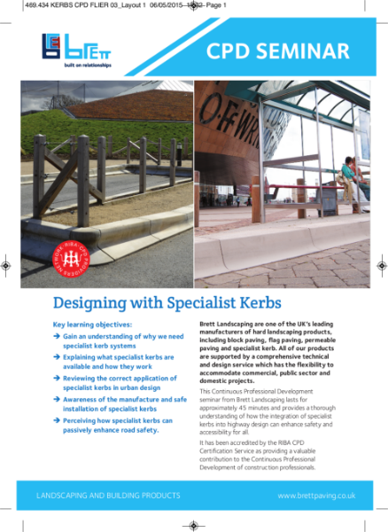 Designing with Specialist Kerbs