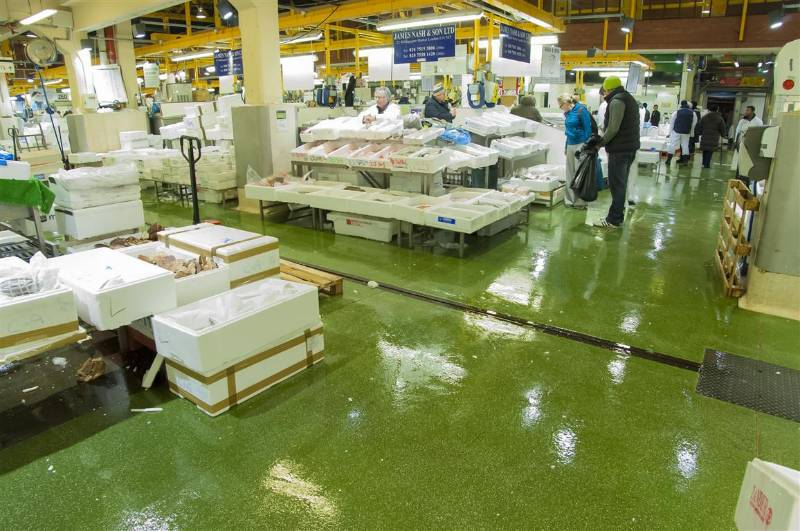 Sherwin-Williams Resuthane TG69 supplied to Billingsgate Market for long term hygienic flooring solution