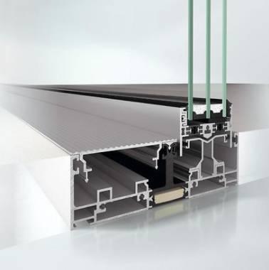 Slimline Panorama design aluminium sliding door system - ASE 67 PD