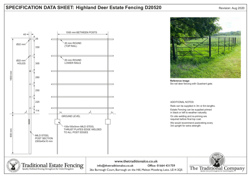 Highland Deer Estate Fencing