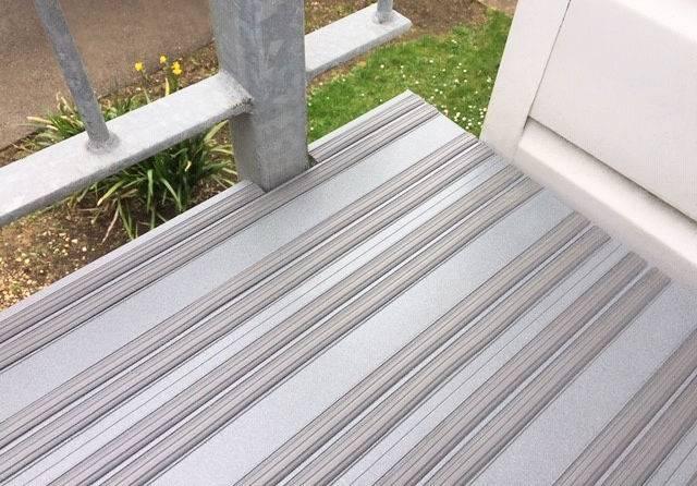 Slip Resistant Aluminium Decking