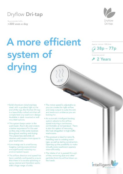 Dryflow Dri-tap Hand Dryer