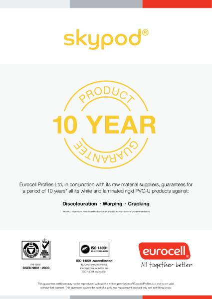 Skypod 10 Year Product Guarantee