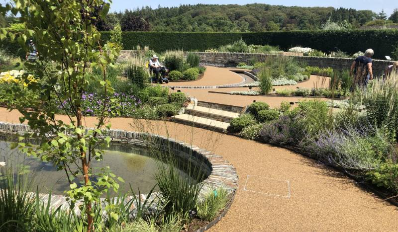 Terrabound Resin Bound Porous Surfacing for RHS Rosemoor Cool Garden Paths