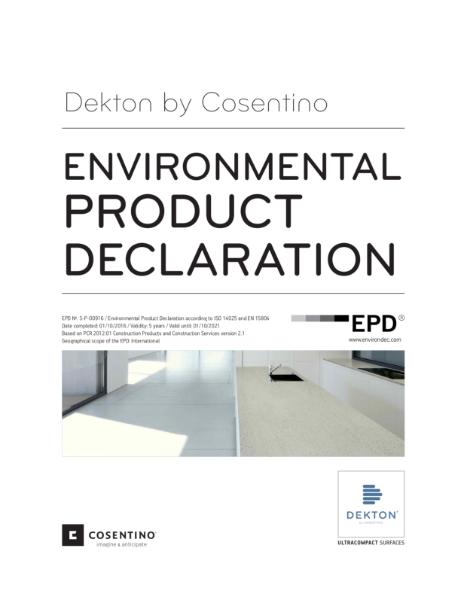 dekton environmental declaration