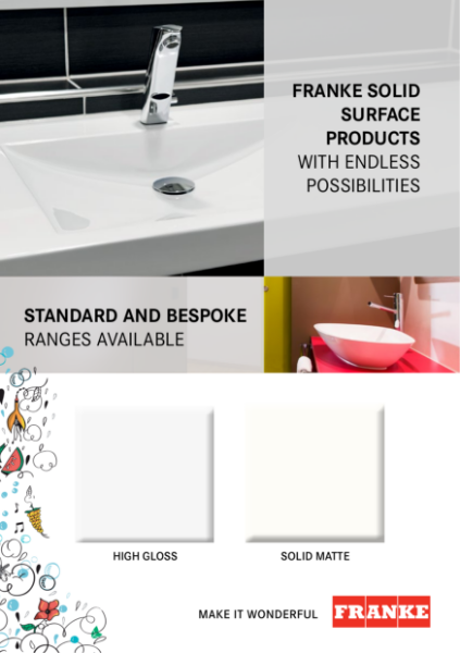 Solid surface washtroughs and basins