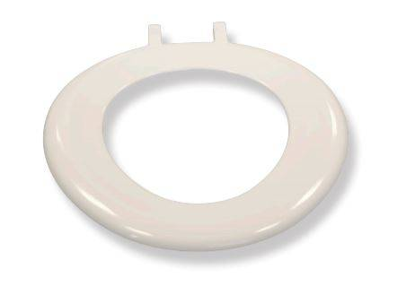 White Ring Seat with Top Fix Hinges No Lid
