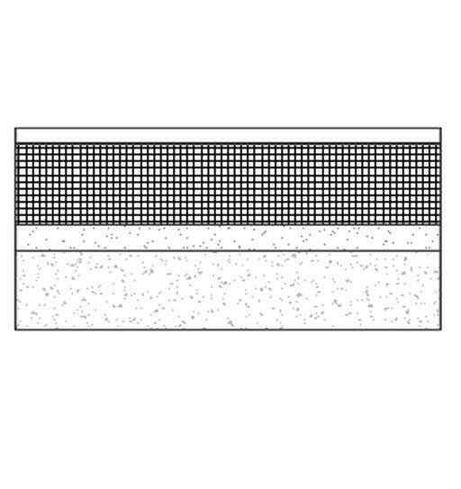 Flat mastic asphalt warm roof on precast hollow slab