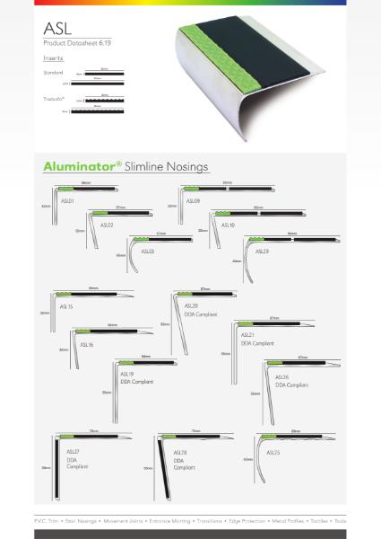 Aluminator Stair Nosing Data Sheet