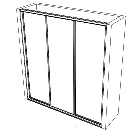 THREE DOOR WARDROBE DESIGN