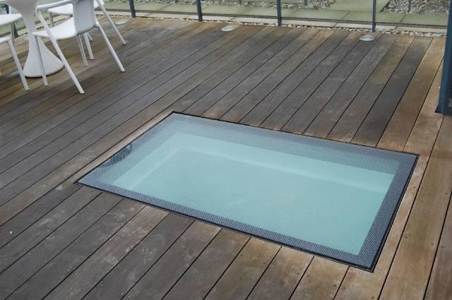 Glass Floor Light Access Cover