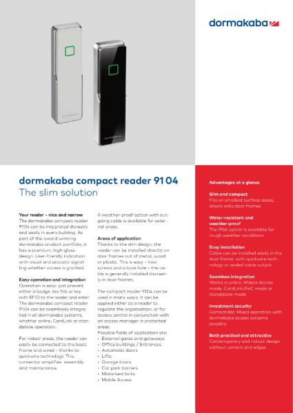 DORMAKABA compact reader 9104