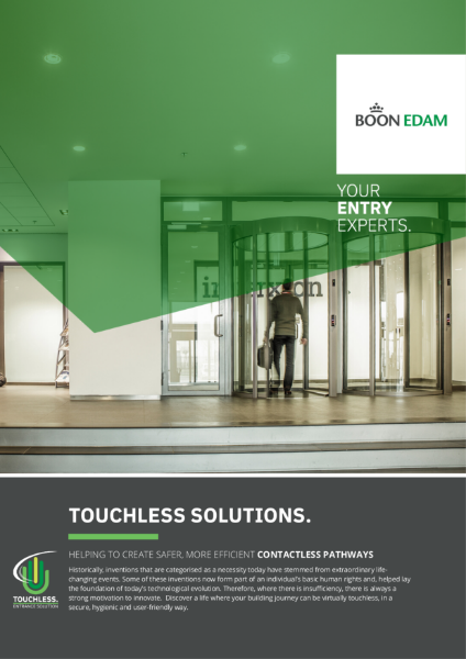 Touchless solutions - safer, more efficient contactless pathways