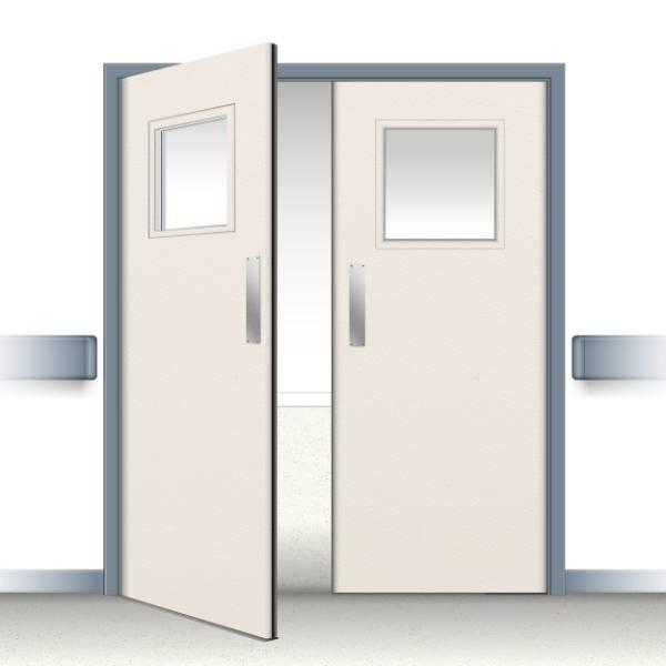 Postformed Double Swing Doorset - Vision Panel 10