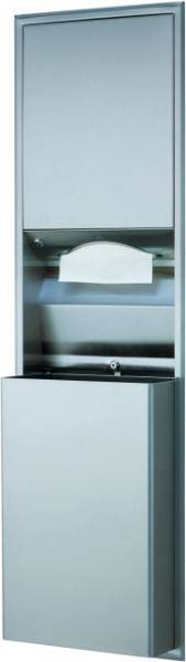 Paper Towel Dispenser and Waste Bin - B-3942, B-3944, B-3947 and B-3949