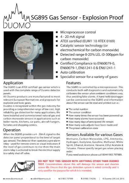 SG895 Datasheet