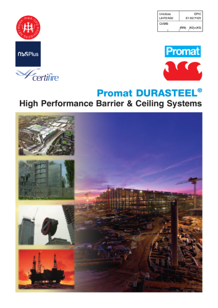 Promat DURASTEEL 4 hours fire protection