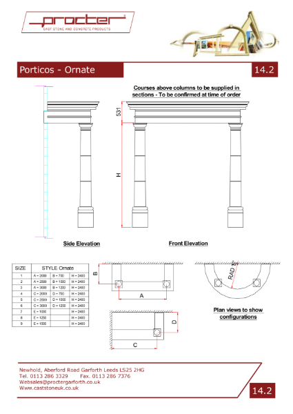 Drawings - Porticos