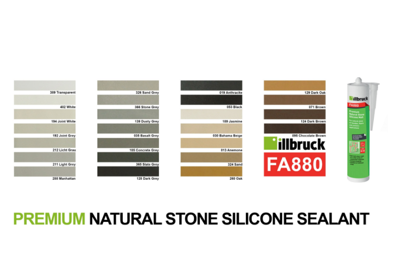 Stone Cladding Non Migratory Sealant Colours