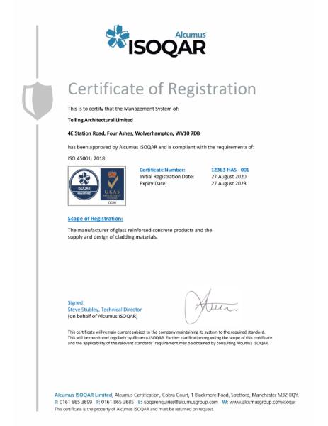 Alcumus ISOQAR ISO 45001:2018