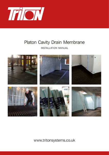 Cavity Membrane Membranes for structural waterproofing